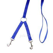 Laisse 2 chiens NYLON CLASSIC Bleu