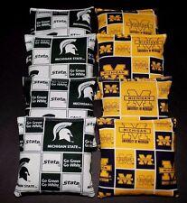 Michigan State Msu & U of M Wolverines Cornhole Bean Bags Aca Regulation Game