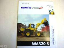 Komatsu Wa320-3 Wheel Loader Brochure