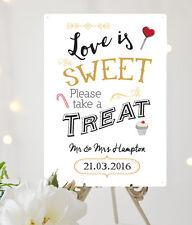 insegna matrimonio personalizzata Love è dolce take una sorpresa metallo