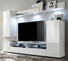 Gut Wohnwand Weiß Hochglanz Fernsehschrank Wohnzimmer TV/HiFi Möbel Medienwand  DOS