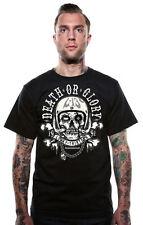 Lucky 13 Motor Pig Tattoo Biker Death Or Glory Punk Goth Mens Shirt LM1000MP