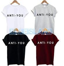 Anti usted T camisa Top lema Amor Odio Dope Tumblr blogger Nuevo Regalo Divertido Swag