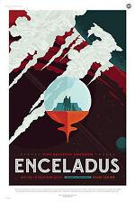 D'encelade nasa tourisme spatial espace imprimé poster