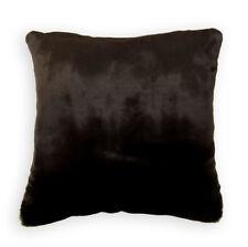 Fq832a Brown Shiny Plush Faux Mink Fur Cushion Cover/Pillow Case*Custom Size*