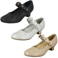filles Spot On paillettes talon moyen Fête 'Chaussures'