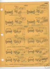 1955 1956 FORD 55 56 PARTS LIST FRAME CRASH SHEETS $$
