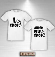 T-shirt Addio al Celibato LO SPOSO e AMICO SPOSO Divertente Cartello Arrestato