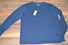 Sonoma Flexwear Stretch Fabric Breathable Soft Touch DK Blue Henley Big & Tall