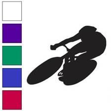 Cyclist Bike Biker Decal Sticker Choose Color + Size #2367