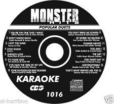 KARAOKE MONSTER HITS CD+G POPULAR DUETS #1016