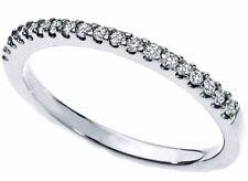 Anello fedina Eternity oro bianco 18 kt. diamanti naturali ct. 0.20 donna Regalo