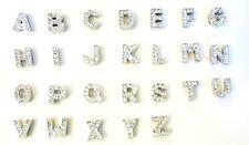 5 Alphabet ABC Mini Letter Crystal Rhinestone Slider Charm/Bead/Bracelet K8-Word