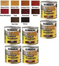 Ronseal Quick Dry woodstain SATINATO RAINPROOF LEGNO Preserver resistere cracking 250ml