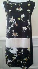 Rachel Roy Dress Sleeveless Women's Black Combo Floral Multi Size Medium $129