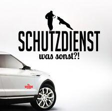 AWILWS Auto Aufkleber SCHUTZDIENST was sonst?! Hundesport WILSIGNS Siviwonder