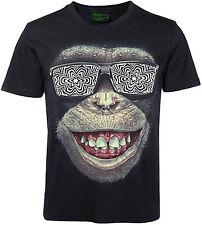 3D T-Shirt Affengesicht mit Edelstahl Piercing