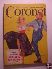 CORONET September 1948 IVY LEAGUE ROY ACUFF JOHN RINGLING OSCAR HAMMERSTEIN III