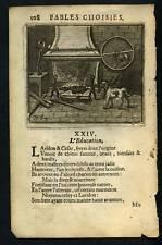 FABLE DE LA FONTAINE L'Education 1703 Gravure original