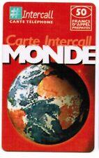TELECARTE 50 F CARTE INTERCALL MONDE