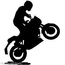 Sticker Décor Moto Cross figure silhouette, 20x17 cm à 30x26 cm (MOTO010)