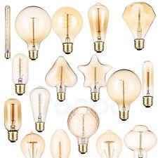 Vintage Retro Edison E27 Filament Light Bulbs 40W Warm White 220V Decor Lamp RD7