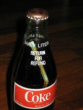 VINTAGE RARE COCA COLA BOTTLE WITH STRAW INSIDE c1984 16.9 OZ USA BOTTLING ERROR