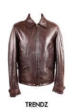 Men's Skyfall Marrón Classic Smart de piel de cordero cuero chaqueta de cine lavado voluminoso