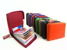 Womens Mens Premium Quality Credit Card Holder Wallet Purse Notes Zip Around