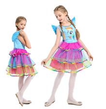 My Little Pony Rainbow Dash Costume Deluxe Girls Fancy Dress + Wing MG