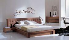 Get Naked bathroom bedroom home wall art sticker