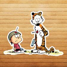 Calvin & Hobbes Toy Gun Fight Funny Cute Die Cut Car Window Wall Decal Sticker