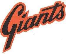 "HUGE SAN FRANCISCO GIANTS IRON-ON PATCH - 7.5"" x 9"""