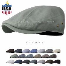 075b0d53124 WF Gatsby Tweed Plaid Ivy Plain Cotton Cap Hat Golf Flat Cabbie Newsboy
