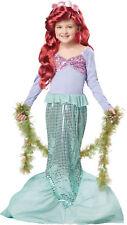 Little Mermaid Child Costume Dress Ariel Princess Disney Movie Sea Halloween