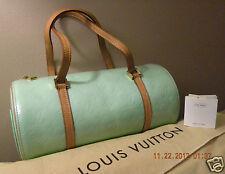 Auth. LOUiS VUiTTON Monogram Vernis Peppermint Green BEDFORD Handbag *MINT*
