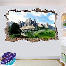 MOUNTAIN MISTY VALLEY SKY 3D ART WALL STICKER ROOM OFFICE DECOR DECAL MURAL ZJ7