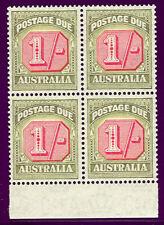 Australia #J80 Mint Never Hinged, Block of 4 Scott $116