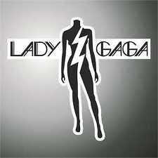 adesivo  musica   LADY GAGA  pop  music sticker aufkleber pegatina