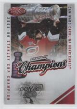 2010 Certified Champions Mirror Red #15 Cam Ward Carolina Hurricanes Hockey Card