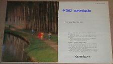 PUBLICITE DE 1983 CARREFOUR JUSTE FAIRE UN TOUR SUPERMARCHE FRENCH PUB AD IMPACT