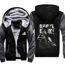 Sudadera con capucha The Walking Dead Daryl Dixon Rick Fur abrigo con cremallera