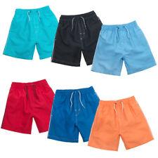 Young Boys Plain summer Colours Surf Board Swim Shorts Swimming Pool Beach Wear