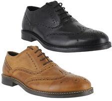 Herren Jungen schwarz braunes Leder Brogue Schnürer Smart formaler Schuhgrößen