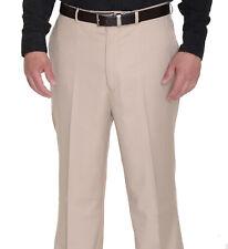 Raphael Solid Tan Flat Front Dress Pants