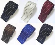 Mode Homme à Pois Coeur Tricot Cravate en Maille Fin Skinny Tissé UK