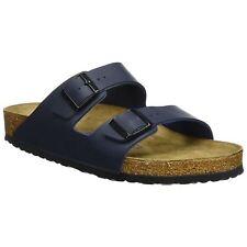 Birkenstock Arizona Blue Womens Birko-Flor Slip-On Open-Back Sandals
