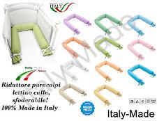 RIDUTTORE PER LETTINO CULLA PARACOLPI SFODERABILE LAVABILE 220 CM MADE IN ITALY