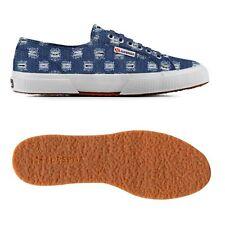 Scarpa Superga donna tessuto jeans strappato blue 2750 rippedjnsu 729 s009hm0