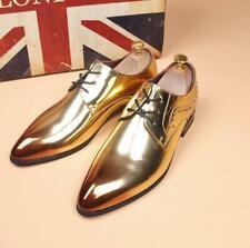 Mens Shiny Leather Pumps Pointy Toe Nightclub Casual Wedding Dress Rivet Shoes